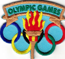 """OLYMPIC GAMES"" -  Iron On Embroidered Patch- Sports, Words, Games, Compete"