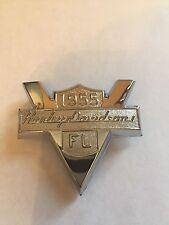 Harley Davidson Medallion 1955 Panhead FL Front Fender Emblem Chrome Backrest
