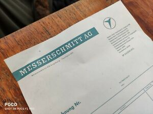 Old Stationery Invoice Messerschmitt Ag Augsburg Aircraft And Car Construction