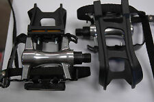 GIANT COMP 9/16 Bicycle Bike Pedals Toe Clips Cage Straps Road BMX Mountain NEW!