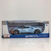 2017 FORD GT BLUE W/ORANGE STRIPE SPECIAL EDITION 1/18 DIECAST CAR MAISTO 31384