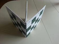 """Double Folding Green White Tournament Chess Board 20"""" with 2.25"""" squares"""