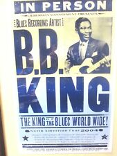 FRAMED B.B. KING POSTER NORTH AMERICAN TOUR 2004