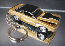 Gold 1970 Dodge Challenger RT Diecast 3D Custom Key Chain Ring Fob