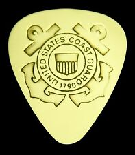 COAST GUARD - Solid Brass Guitar Pick, Acoustic, Electric, Bass