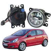 LED Fog Light + Angel Eye Rings Daytime Running Lights DRL Fit For Opel Corsa