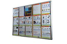 Lockable Notice Board 15xA4 Indoor Cork Board Pin Board