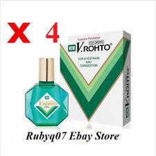 4 x NEW V Rohto Eyedrop Eye drops 13ml for Eyestrain Congestion Redness Fatigue