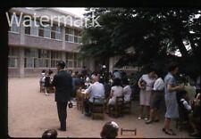 1965  kodachrome Photo slide Lunch part   Man with movie camera    Korea  RK22