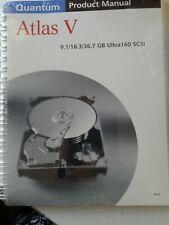 Manual Quantum Product Manual Atlas V 9.1 / 18.3 / 36.7 GB Ultra 160 SCSI New