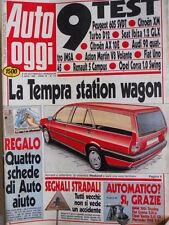 Auto OGGI n°174 1990 Peugeot 605 SVDT - Citroen XM - Aston Martin V8 Vola [Q200]