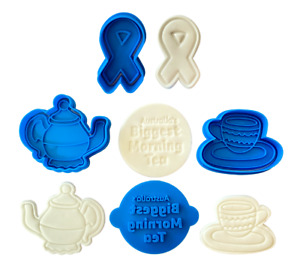 Biggest Morning Tea cookie stamp- Cancer Council - Teapot and teacup cutter