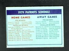 New England Patriots--1979 Pocket Schedule