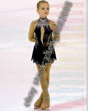 Ice skating dress.Black Competition Figure Skating dress. Baton Twirling Costume