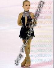 Ice skating dress.Black Competition Figure Skating dress. Baton Twirling Costume
