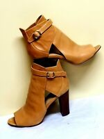 Vince Camuto tan/brown leather booties, size 9,5