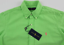 Men's RALPH LAUREN Bright Green / Aruba Lime Cotton Shirt L Large NWT NEW Cool!