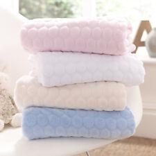 1 2f Clair De Lune Marshmallow Baby Blanket Blue. Nursery Bedding Blankets