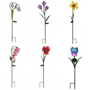 Smart Solar Garden Flowers Glass Solar Stake Lights Outdoor Garden LED Lights