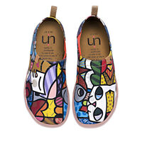 UIN Canvas Loafer Women Shoes Slip-On Casual Funkey Artistic Cat Painted Travel