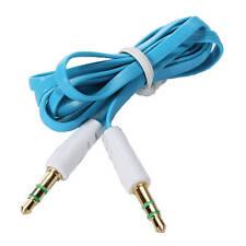 3.5mm (Masculino) a 3.5mm (macho) Conector Jack De Audio Estéreo Cable Aux Cable Azul
