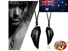Black Wolf Tooth Necklace Game of Thrones Inspired Swarovski Pendant Australia