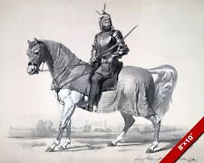 SIKH COMMANDER RAJA LAL SINGH ON HORSE ANGLO SIKH WAR PAINTING CANVAS ART PRINT