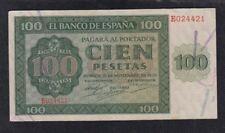 EDIFIL 421a.  100 PTAS 21 DE NOVIEMBRE DE 1936 SERIE E CONSERVACIÓN EBC