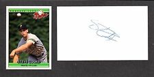 Steve Cooke ( Debut 1992 ) PIRATES REDS  SIGNED AUTOGRAPH AUTO 3x5 INDEX COA