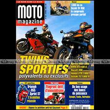MOTO MAGAZINE N°154 HONDA VTR 1000 DF 125 YAMAHA TW TRIUMPH 995 SPRINT ST 1999