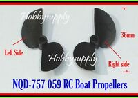 NQD 757 059 RC Boat Spare Propeller for Replacement part Left x 2 & Right x 2