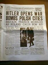 Jewish HOLOCAUST in15 WW II Newspaper Headlines 1933-46