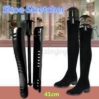1 Pair Black Shoe Tree Shapers Stretcher Practical Women Plastic Boot Holder