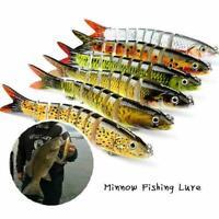 Dancing Minnow Fishing Lure 3D Lifelike Eyes Gift Super