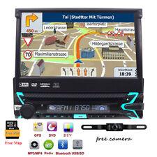 Motorizzato 7'' Autoradio Cd Dvd Gps Navigatore 1Din Bluetooth Sd Usb DAB+Camera