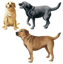 WALLIES DOGS wall stickers 25 prepasted decals puppy Black & Golden Labrador Lab