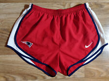 Nike New England Patriots Dri-Fit Tempo Womens Running Sprinter Shorts NFL Red