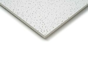Pack of 10 x Fine Fissured Office Acoustic Suspended Ceiling Tiles 595mm x 595mm