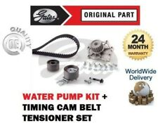 FOR VOLVO S60 2.4 TDi D5 2001-> GATES TIMING CAM BELT TENSIONER KIT + WATER PUMP