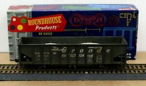 Roundhouse 1564 HO D&RGW Ribside Ballast car Built Weathered KDs MW Load NICE!!