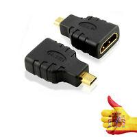 Conector Adaptador HDMI Hembra a Micro HDMI Tipo D Macho Convertidor HD TV GOLD4
