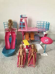 Barbie Cruise Ship Boat With Slide Barbie Dolls And Accessories