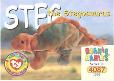 Ty Beanie Babies Bboc Card - Series 2 Common - Steg the Stegosaurus - Nm/Mint