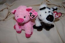 Ty Beanie Baby Silky and Stubby (PIGS)  stuffed animal