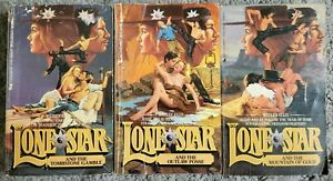 Lone Star Western 3 Books Lot Vintage Paperback Books Wesley Ellis Free Shipping