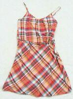 Gap Multi-Colored Dress Woman's Spaghetti Strap Size Extra Small XS Cotton Plaid
