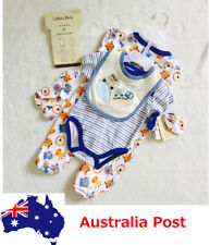 5PCS Set Toddler Baby Romper Bib Beanie Glove Outfits Clothing Boys