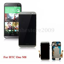 Full LCD Display Touch Screen Digitizer + Frame Assembly For HTC ONE M8 Gray