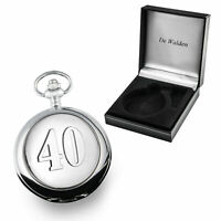 Mens 40th Ruby Wedding Anniversary Gift Engraved Pocket Watch 40 Years Gifts