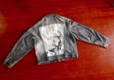 Vintage LEVI'S Denim Jacket Custom JAMES DEAN Artwork Rare Red Tab size 46